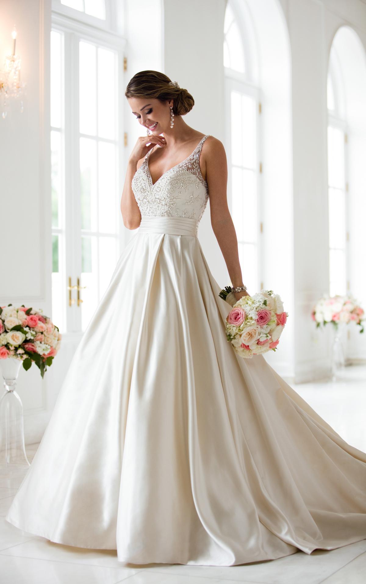 Brautkleider Satin ivory A-Line