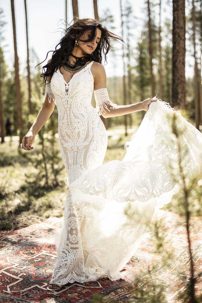 BOHO-Vintage-Hochzeitskleider