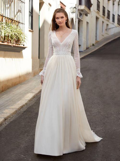Brautkleider A-Linie Ärmel