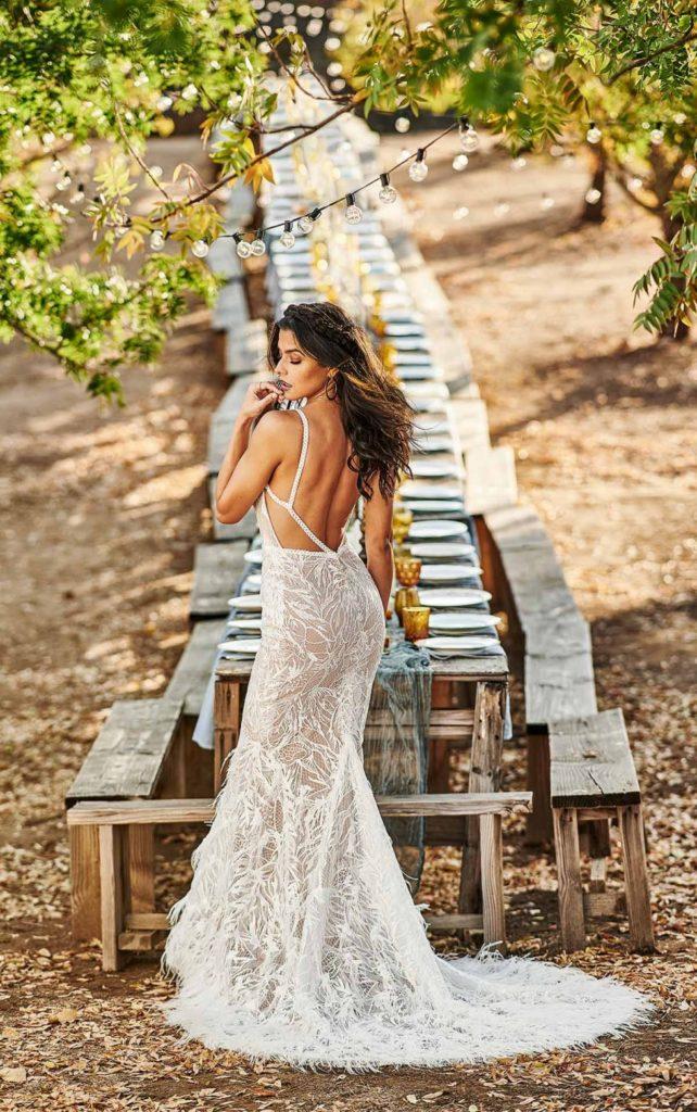 Brautkleider-tiefer Rücken