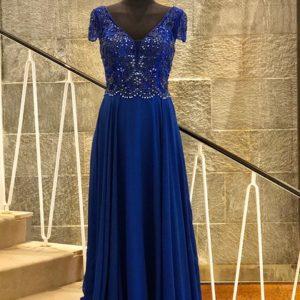 Abendkleid blau lang