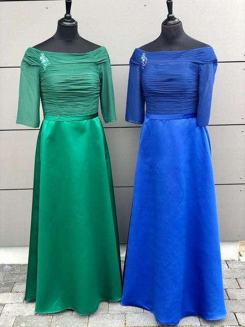 Abendkleid Grün Blau